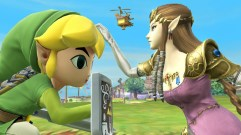 Toon Link and Zelda in SSB Wii U.