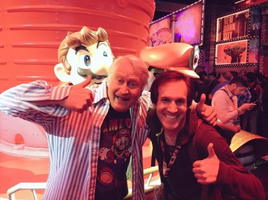 Erich with Charles Martinet