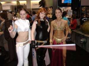 Padme, Mara Jade, and Princess Leia
