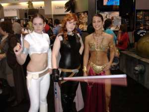Padme, Mara Jade, and Princess Leia