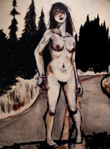 Zombie Nude (morgue escapee) by Abi Post