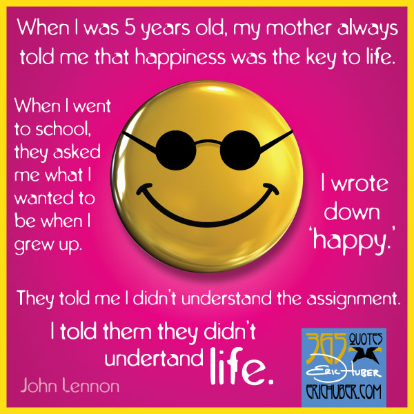 John Lennon on Happiness