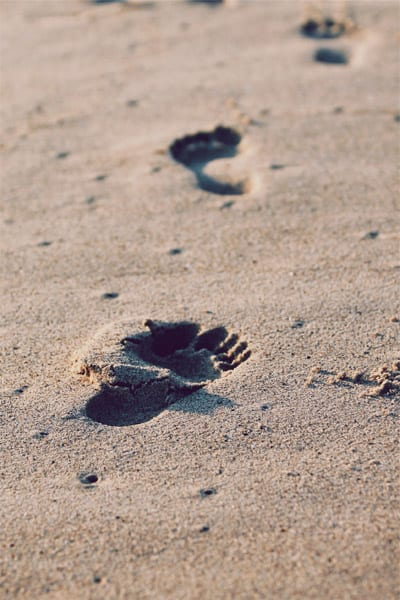 Footprints left behind