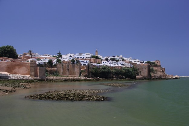 The Kasbah des Oudaias, the old fortress protecting Rabat at the mouth of Oued Bou Regreg (Bou Regreg River).