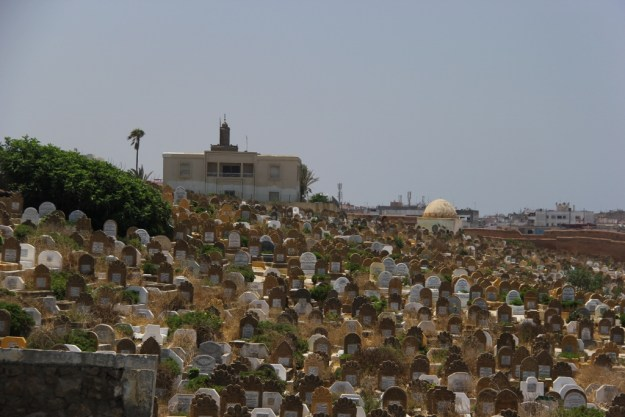 Next to the Kasbah is a large cemetery overlooking the Atlantic. Not a bad place to be!