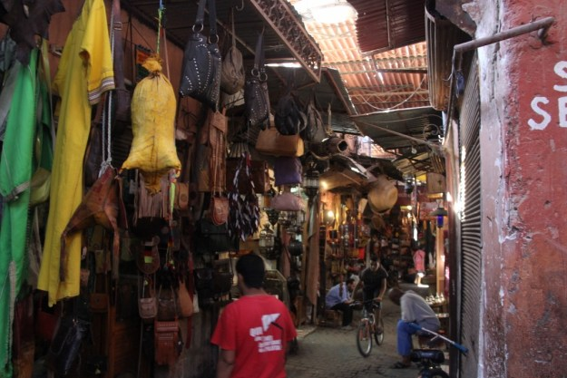 In the souq in Marrakesh, where I bought a lotar (lute from the Atlas Mountains) and qarqab (castanets used in Gnawa and other North African musics).