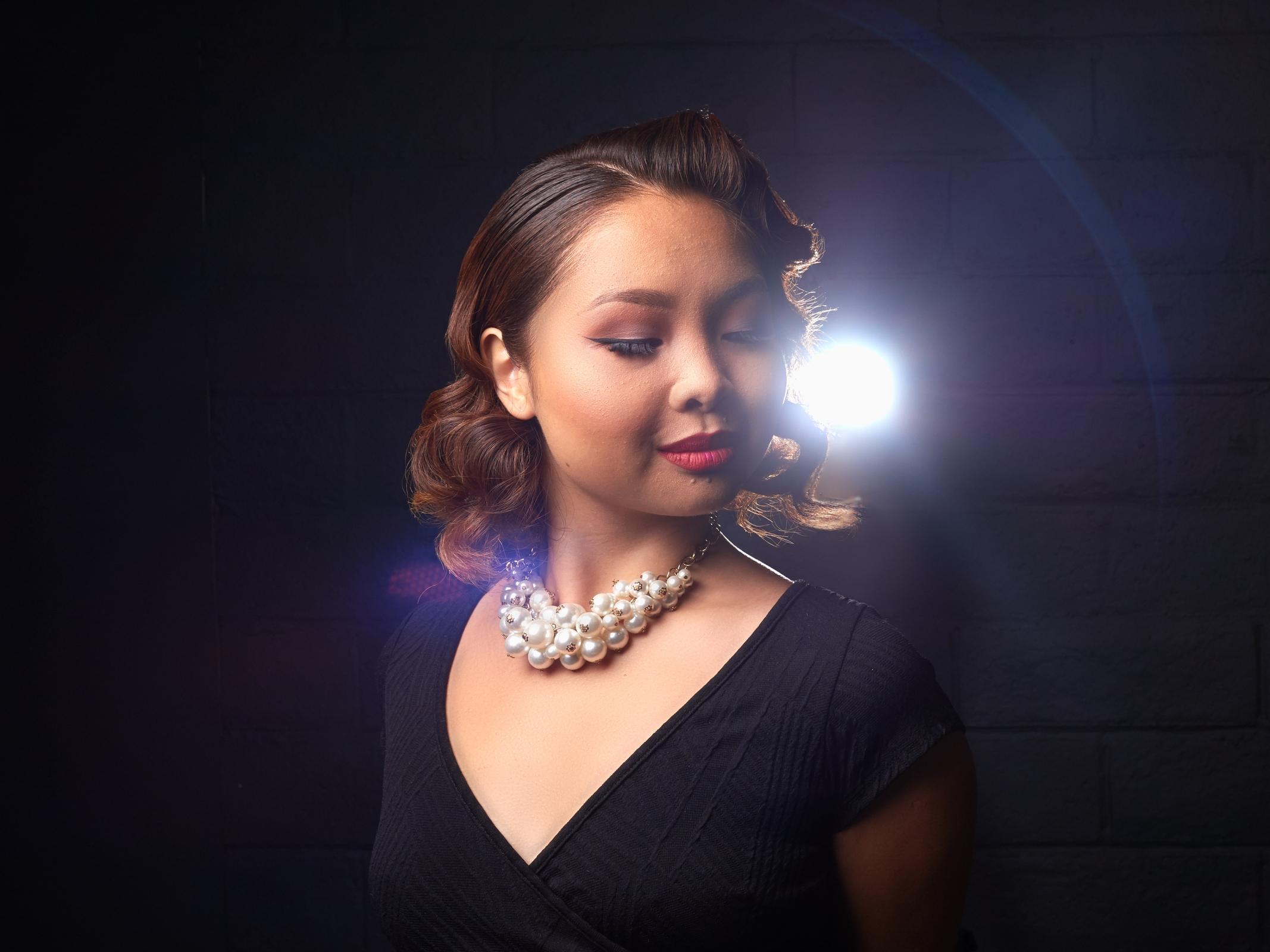 Winnie Portrait shot with light flare