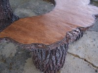 Tree Slab Table Set | Erickson's Landscape Supply