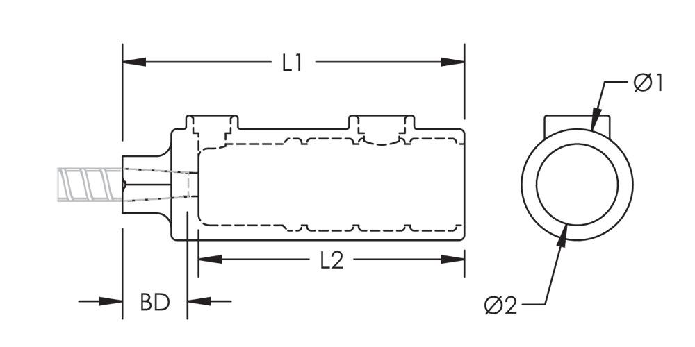 nVent LENTON Interlok Transition Grout-Fill Coupler, Plain