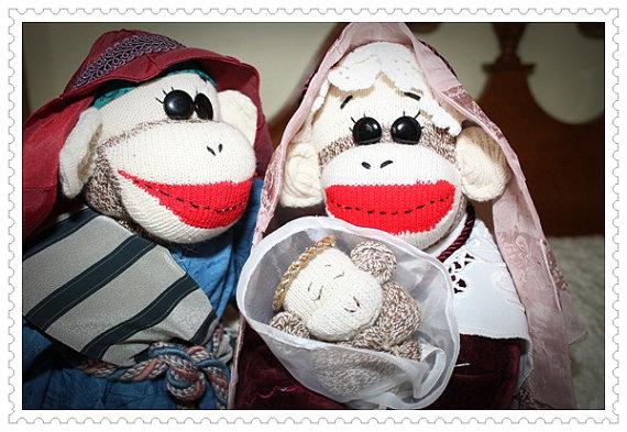 Sock Monkey Nativity - Ety 4
