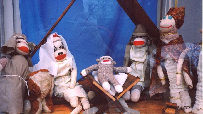 Sock Monkey Nativity