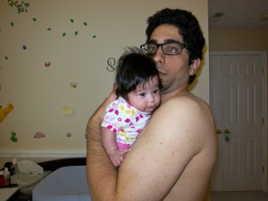 Scarlett and I after her feed