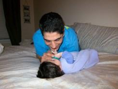 Grabbing Daddys Chin