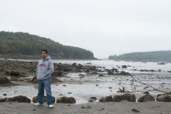Me at Bar Harbor Low Tide