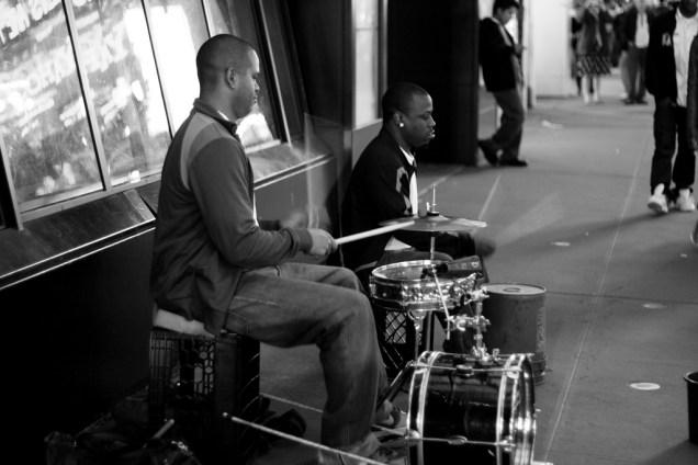 Street Musicians Play