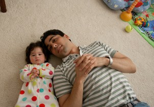 Scarlett and Daddy in her Room