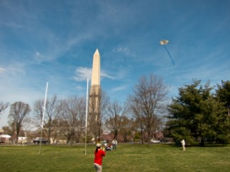 Danielle flying a Kite in DC 2