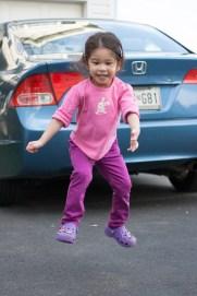Scarlett Jumping for Joy!