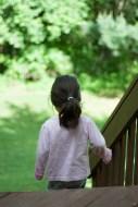 Scarlett plays in the yard-2 - web