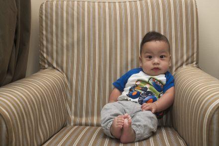 Sam's Five Month Couch Portrait