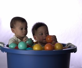 Twins in Purple Bucket - 2016-07-04--021-1