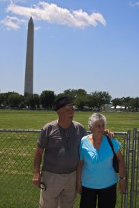 In front of the Washingon Monument