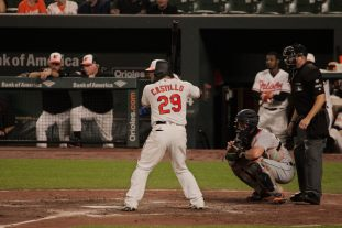 Castillo at Bat