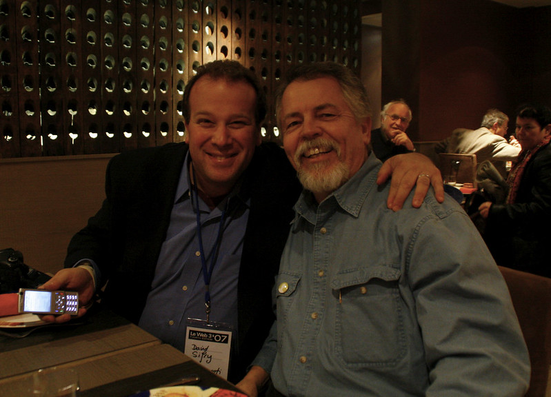Dave Sifry and Doc Searls in Paris.