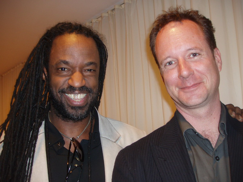 Jonathan Nelson (right) with musician Bill Ware