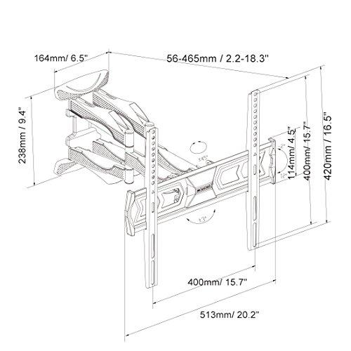 FLEXIMOUNTS A20 Articulating Full Motion Tilt TV Wall