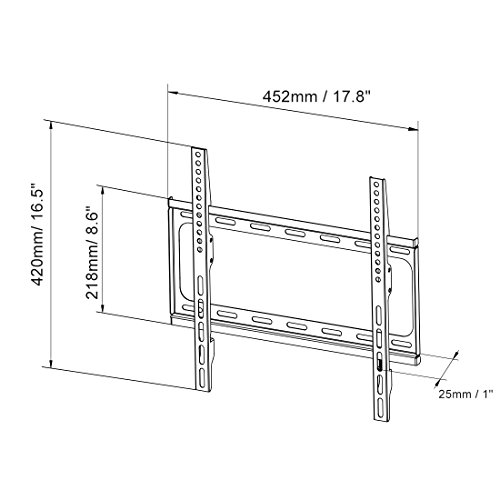 FLEXIMOUNTS F012 Fixed TV Wall Mount fits for most of 26