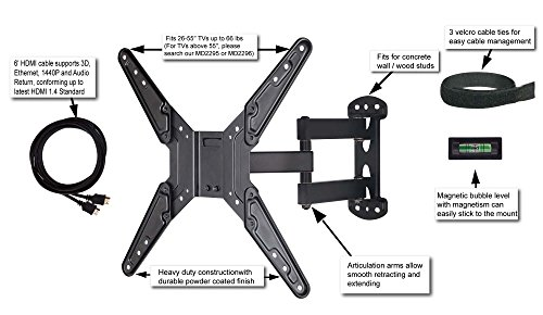 Mounting Dream® MD2413-MX TV Wall Mount Bracket with Full