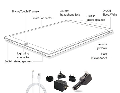 2015 Newest Apple iPad Pro 12.9-inch Tablet Multi-Touch