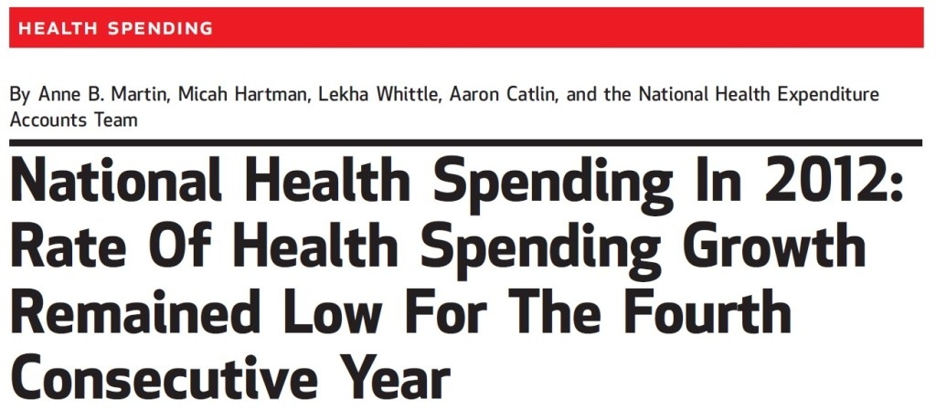 National Health Spending in 2012