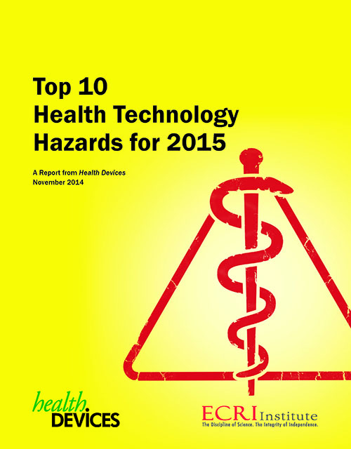 Top 10 Health Technology Hazards for 2015 Cover Small