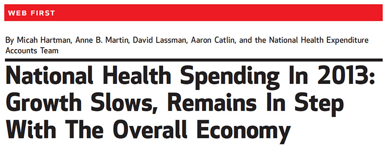 National Health Spending in 2013