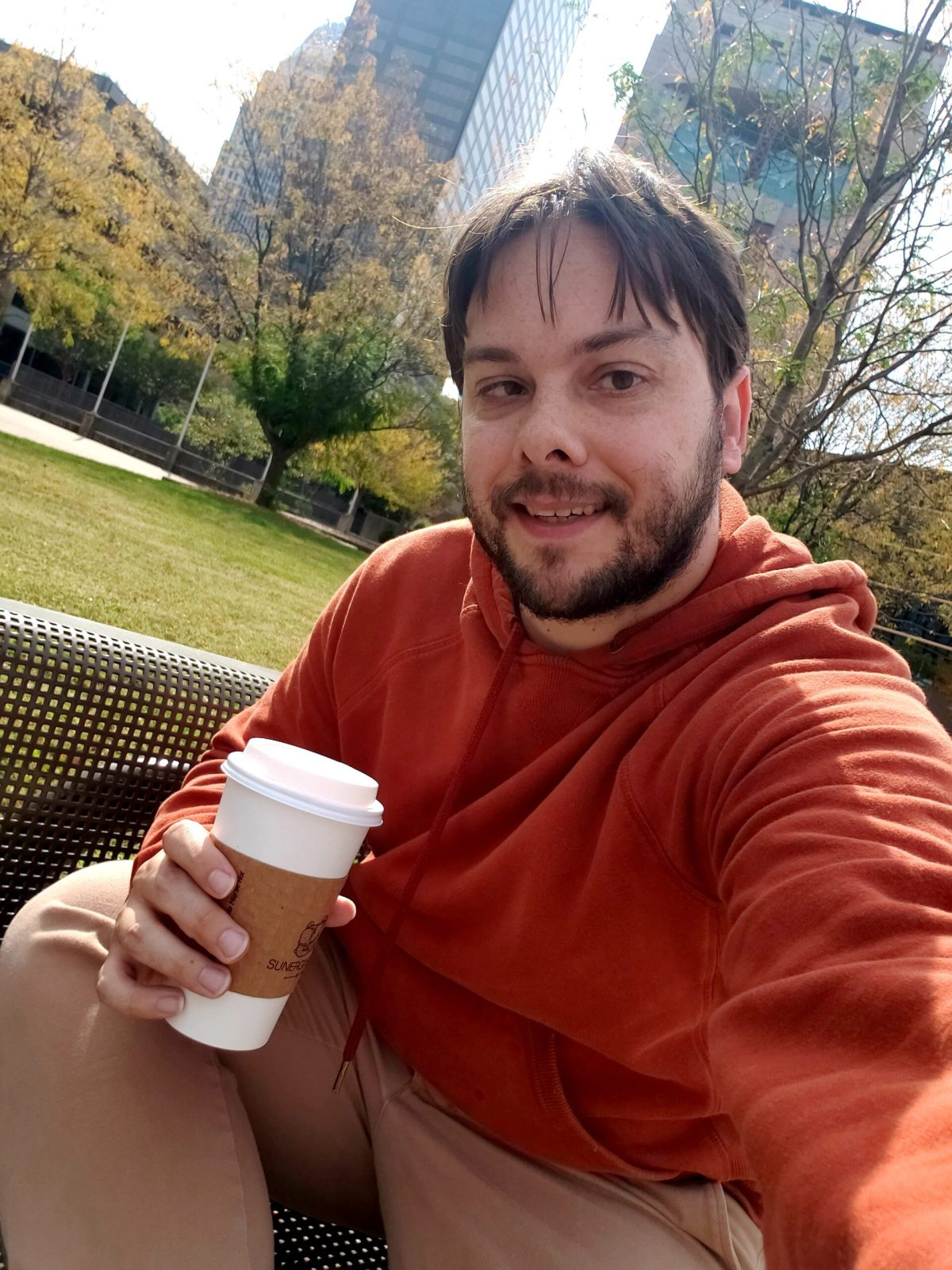 Eric Shay Howard selfie with coffee