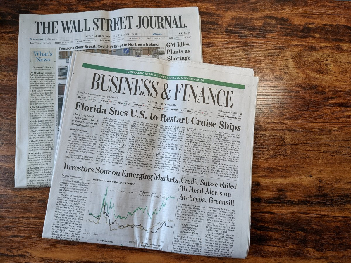 The Wall Street Journal Business Section