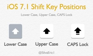 iOS 7.1 Shift Key
