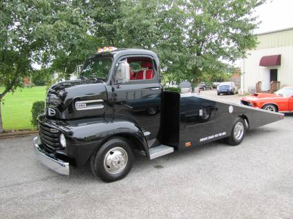 IT RUNS SMOOTH AND RIDES EXTREMELY WELL AND GETS DECENT GAS MILEAGE EVEN WITH THE A/C BLOWING ICE COLD !! FORD TOUGH WITH CHEVY STUFF ! & 1948 FORD COE CAR HAULER SOLD SOLD SOLD markmcfarlin.com