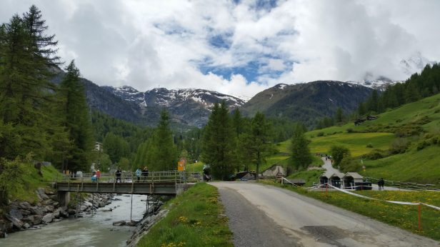 Road from Zermatt on the way to Furi