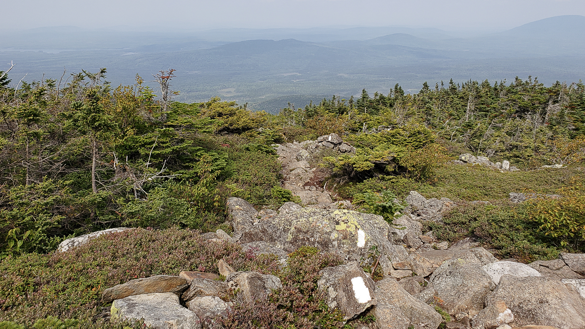 White Cap Mountain Hike in Maine 100 Mile Wilderness