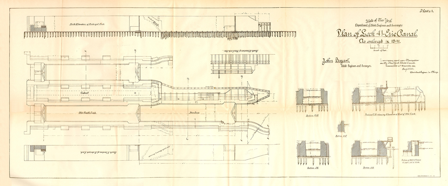 hight resolution of plan of lock 41 fort herkimer