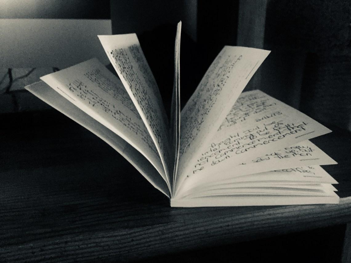 Notebook of handwritten First Sentences
