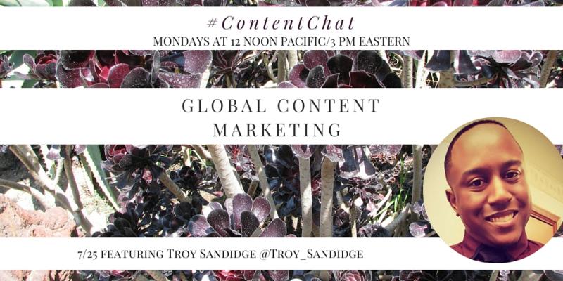 Troy Sandidge Content Chat
