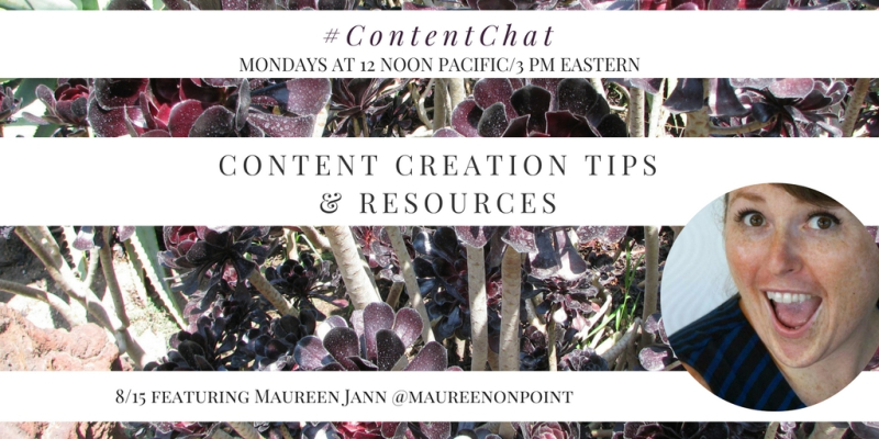 Maureen Jann Content Chat