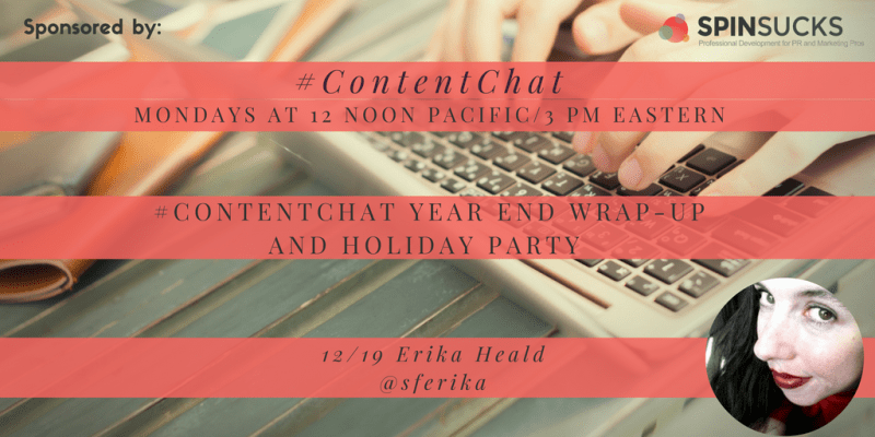 Erika Heald Content Chat 2016 Year in Review