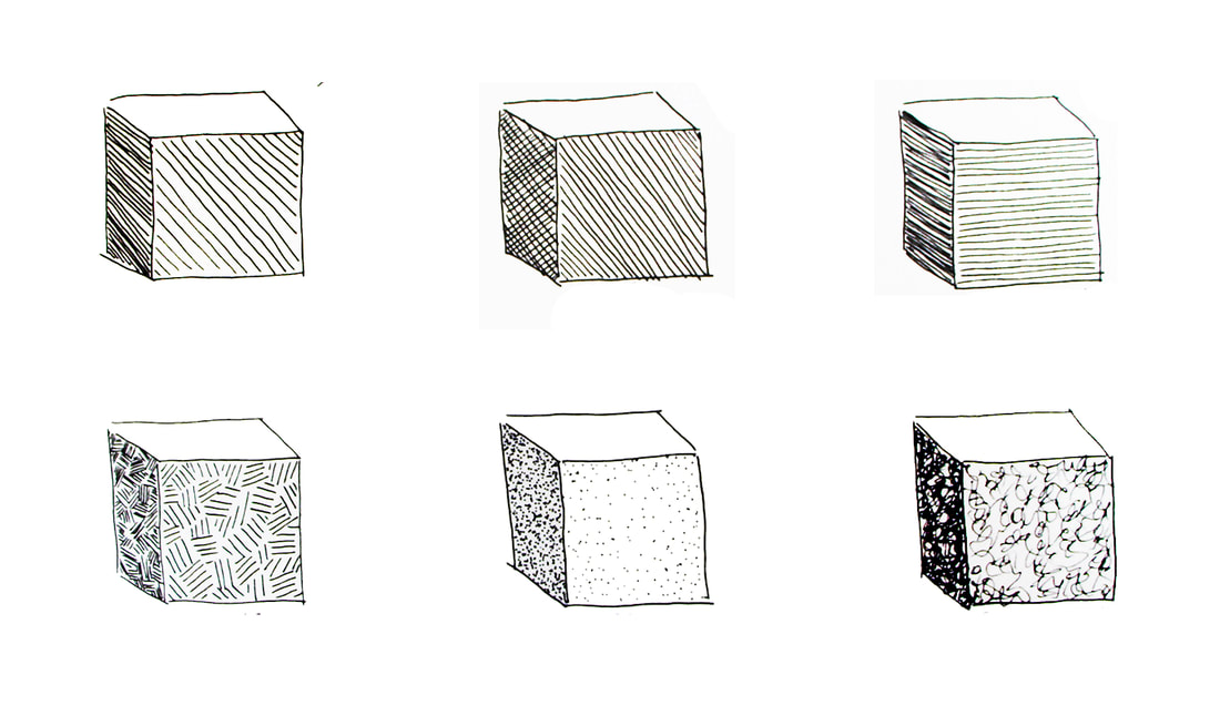 Shading Objects Using Hatching, Crosshatching, Scribbling