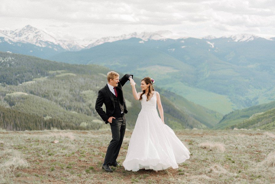 Vail mountain wedding deck