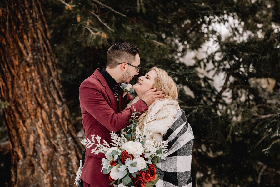Woodsy photos at Sapphire Point elopement
